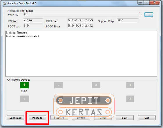 Cara Flash Advan T2E Firmware Stock ROM via Rockchip Batch Tool 10 Menit