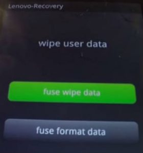 Wipe Data Lenovo