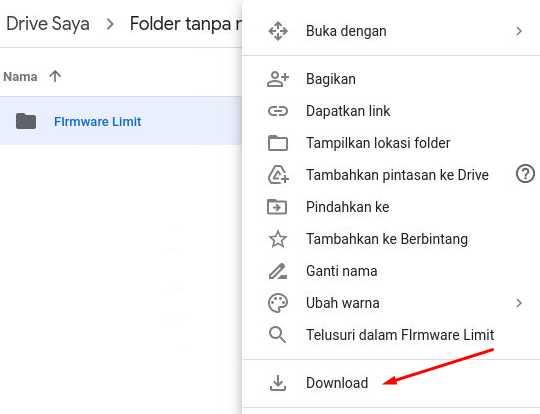 Download Folder Pintasan Google Drive Limit