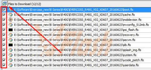 Cara Flash Evercoss R40G Bintang Firmware via Flash Tool E2 3gr