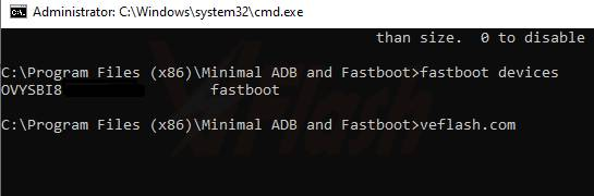 Fasboot Devices Command