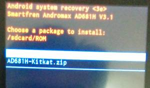 Firmware Andromax G2 AD681H