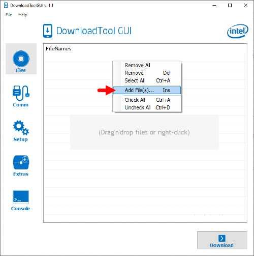 Bagaimana Cara Flash Advan X7 Firmware via Intel DownloadTool GUI